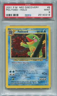 Pokemon Neo Discovery Single Politoed 8/75  -  PSA 9  *25140318*