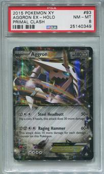 Pokemon Primal Clash Single Aggron EX 93/160  -  PSA 8 *25140349*