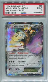 Pokemon Phantom Forces Single Aegislash EX 65/119  -  PSA 9  *25140358*