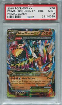 Pokemon Primal Clash Single Primal Groudon EX 86/160  -  PSA 9  *25140359*