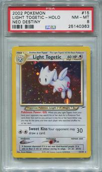 Pokemon Neo Destiny Single Light Togetic 15/105  -  PSA 8  *25140363*