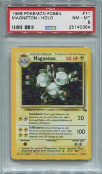 Pokemon Fossil Single Magneton 11/62  -  PSA 8  *25140364*