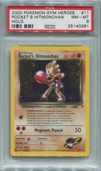 Pokemon Gym Heroes Single Rocket's Hitmonchan 11/132 - PSA 8  *25140391*