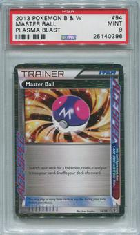 Pokemon Plasma Blast Single Master Ball 94/101 - PSA 9  *25140396*