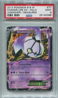Pokemon Legendary Treasures Single Single Chandelure EX 77/113 - PSA 9  *25140398*