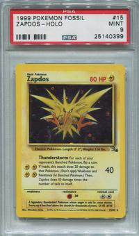 Pokemon Fossil Single Zapdos 15/62 - PSA 9  *25140399*