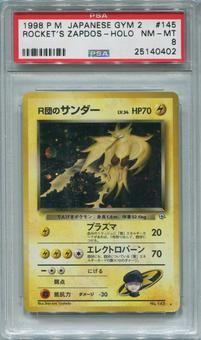 Pokemon Japanese Gym 2 Single Rocket's Zapdos - PSA 8  *25140402*