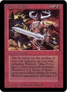 Magic the Gathering Alpha Single Keldon Warlord MODERATE PLAY (VG/EX)