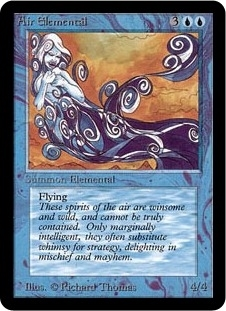 Magic the Gathering Alpha Single Air Elemental LIGHT PLAY (NM)