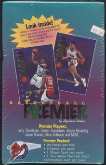 1995/96 Signature Rookies Premier Basketball Hobby Box