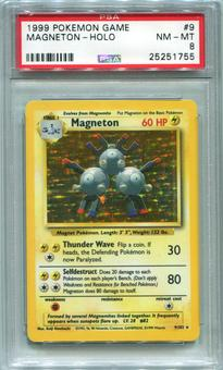 Pokemon Base Set 1 Single Magneton 9/102  -  PSA 8