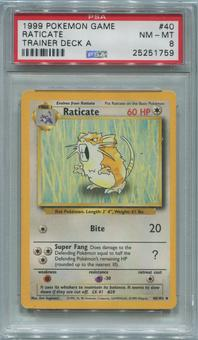 Pokemon Trainer Deck A Single Raticate 40/102  -  PSA 8  *25251759*