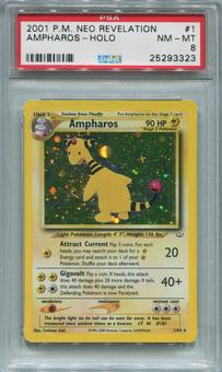 Pokemon Neo Revelation Single Ampharos 1/64  -  PSA 8  *25293323*
