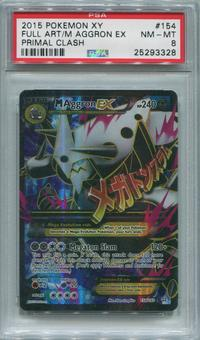 Pokemon Primal Clash Single M Aggron EX  154/160  -  PSA 8  *25293328*