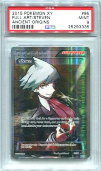 Pokemon Ancient Origins Single Steven 95/98  FULL ART  -  PSA 9  *25293335*