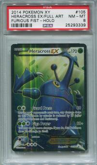 Pokemon Furious Fists Single Heracross EX 105/111  FULL ART  -  PSA 8  *25293339*