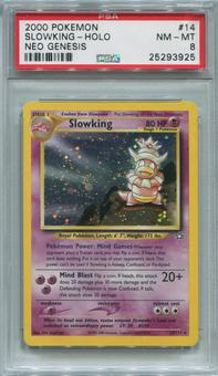 Pokemon Neo Genesis Single Slowking 14/111  -  PSA 8  *25293925*
