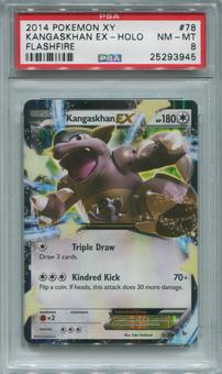 Pokemon Flashfire Single Kangaskhan EX 78/106  -  PSA 8  *25293945*