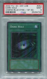 Yu-Gi-Oh Legend of Blue-Eyes White Dragon 1st Edition Single Dark Hole  -  PSA 9  *25294740*