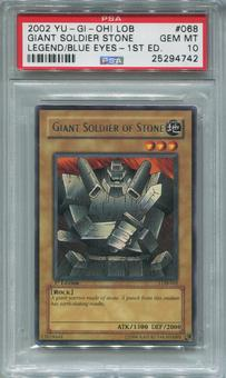 Yu-Gi-Oh Blue Eyes White Dragon 1st Ed. Single Giant Soldier of Stone -  PSA 10 *25294742*