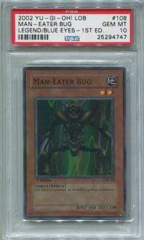 Yu-Gi-Oh Blue Eyes White Dragon 1st Edition Single Man-Eater Bug 108  -  PSA 10  *25294747*