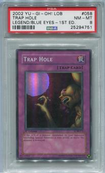 Yu-Gi-Oh Legend of Blue Eyes White Dragon 1st Edition Single Trap Hole - PSA 8  *25294751*