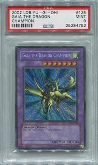 Yu-Gi-Oh Legend of Blue Eyes White Dragon Single Gaia the Dragon Champion Secret Rare - PSA 9 *25294752*