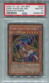 Yu-Gi-Oh Magician's Force Single Dark Magician Girl Secret Rare - PSA 10 *25294759*