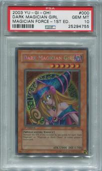 Yu-Gi-Oh Magician's Force 1st Edition Single Dark Magician Girl Secret Rare  - PSA 10 *25294755*
