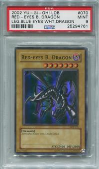 Yu-Gi-Oh Legend of Blue Eyes White Dragon Single Red-Eyes B. Dragon  -  PSA 9  *25294761*