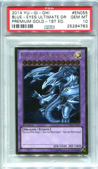 Yu-Gi-Oh Premium Gold 1st Edition Single Blue-Eyes Ultimate Dragon - PSA 10  *25294763* - Only 2 Exist!!