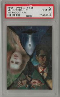 1995 Topps X-Files Mulder/Scully Promo #2 PSA 10 *25496719*