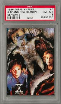 1996 Topps X-Files Season 2 Promo #0 PSA 8 *25496720*