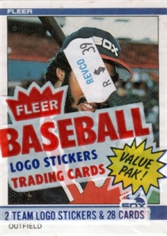 1984 Fleer Baseball Cello Pack