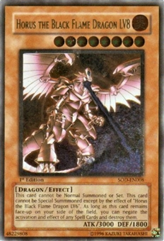 Yu-Gi-Oh Soul of the Duelist 1st Ed. Horus Black Flame Dragon Lv8 Ultimate Rare - SLIGHT PLAY (SP)