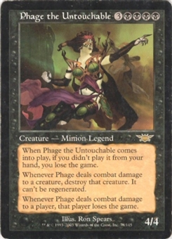 Magic the Gathering Legions Single Phage the Untouchable - SLIGHT PLAY (SP)