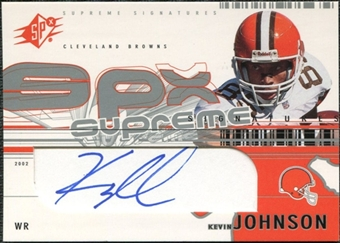 2002 Upper Deck SPx Supreme Signatures #SSKJ Kevin Johnson Autograph