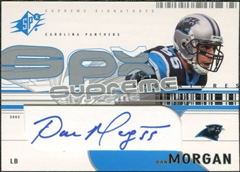 2002 Upper Deck SPx Supreme Signatures #SSMO Dan Morgan