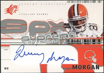 2002 Upper Deck SPx Supreme Signatures #SSQM Quincy Morgan Autograph