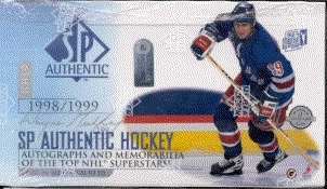 1998/99 Upper Deck SP Authentic Hockey Hobby Box (EX Box, MINT Packs)