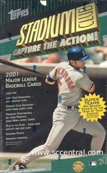 2001 Topps Stadium Club Baseball Jumbo Box