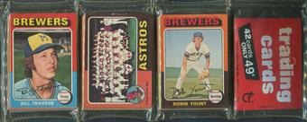 1975 Topps Baseball Rack Pack Robin Yount Rookie On Top