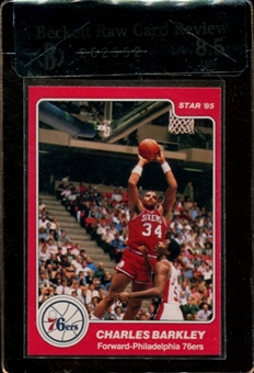 1984/85 Star Basketball #202 Charles Barkley Rookie Beckett Raw Card Review 8.5 *2552