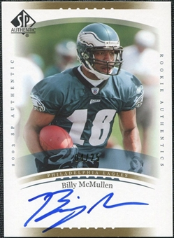 2003 Upper Deck SP Authentic Gold #233 Billy McMullen Autograph /25
