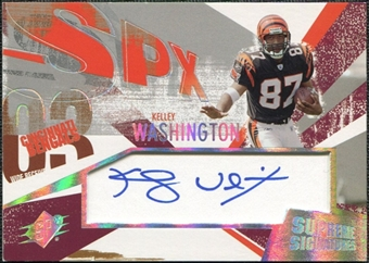 2003 Upper Deck SPx Supreme Signatures #SSKW Kelley Washington Autograph