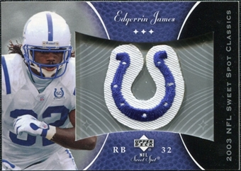 2003 Upper Deck Sweet Spot Classics Patch #PEJ Edgerrin James