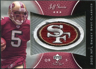 2003 Upper Deck Sweet Spot Classics Patch #PJG Jeff Garcia