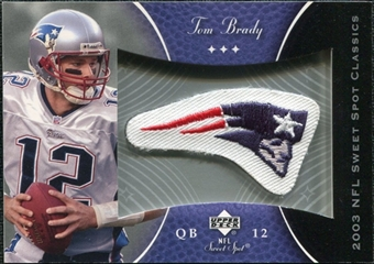 2003 Upper Deck Sweet Spot Classics Patch #PTB Tom Brady