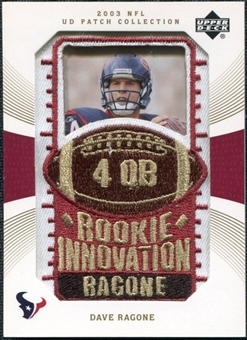 2003 Upper Deck UD Patch Collection Gold Patches #123 Dave Ragone RC /25