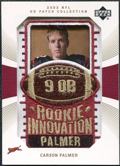 2003 Upper Deck UD Patch Collection Gold Patches #133 Carson Palmer RC /25